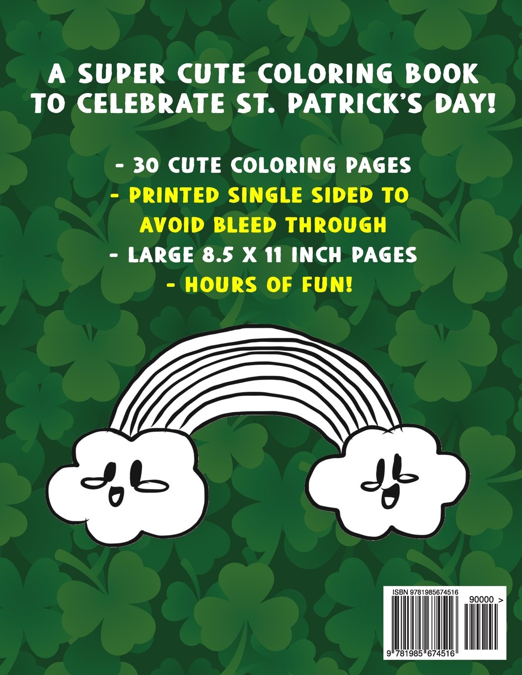St. Patrick\'s Day Coloring Book: A Super Cute St. Patrick\'s Day ...