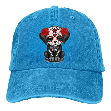 Cute Red Day of The Dead Puppy Dog Adult New Style Cowboy HAT