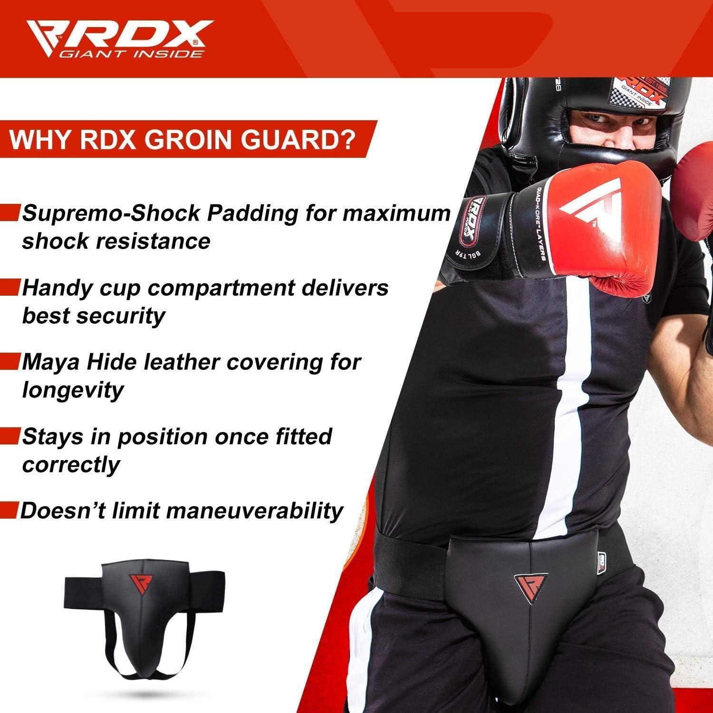 RDX Coquille Boxe MMA Sports Protection Arts Kick Boxing Suspensoir Muay Thai FR