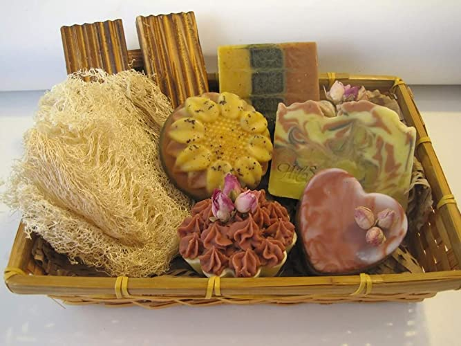 Amazon Soap Set Gift Basket All Natural And Vegan Spa