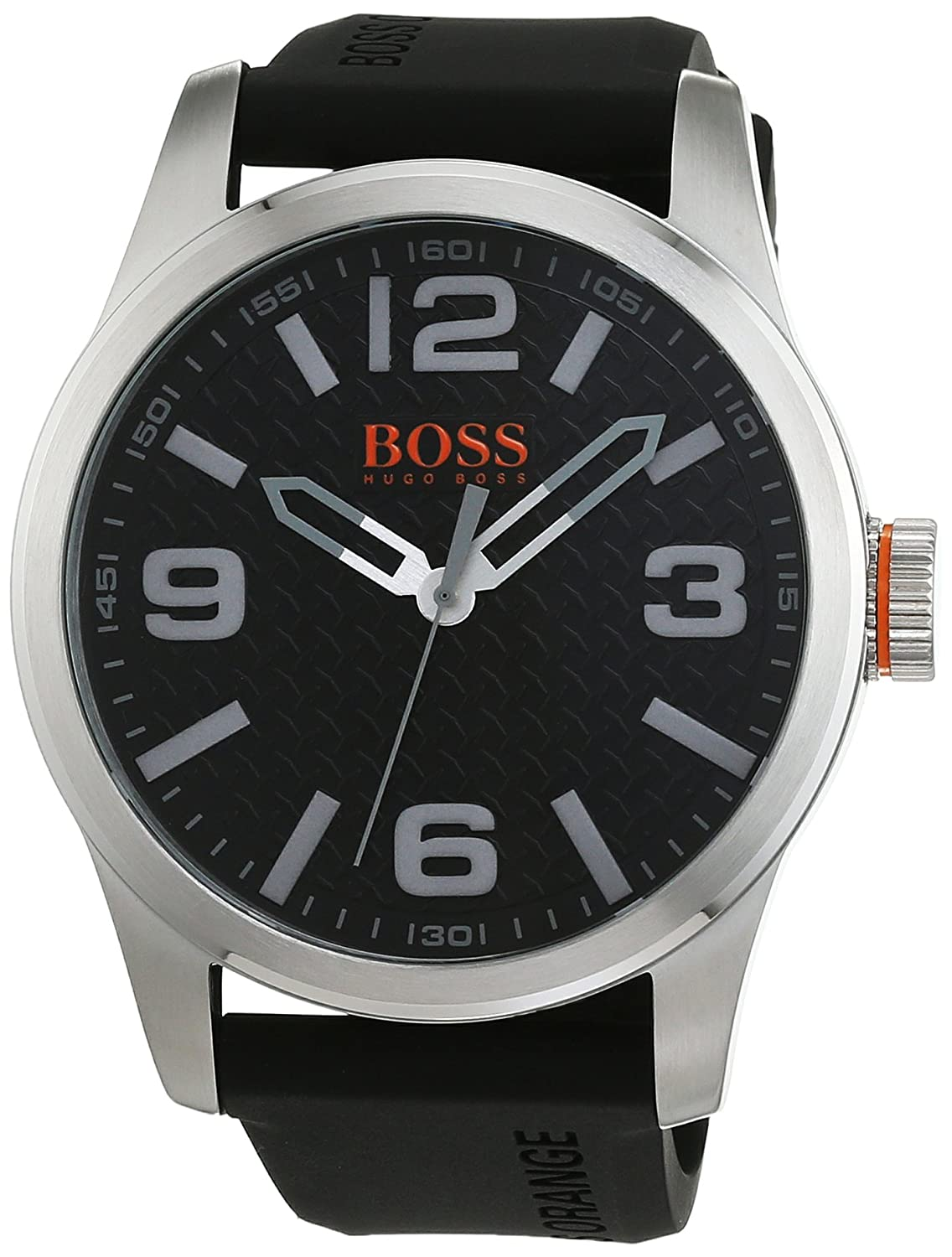 BOSS Orange Herren-Armbanduhr PARIS Analog Quarz Silikon 1513350
