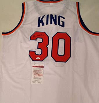 new product d3a82 1695b Bernard King Autographed Signed New York Knicks White Home ...