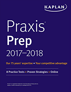 Amazon praxis ii english language arts content and analysis praxis prep 2017 2018 8 practice tests proven strategies online kaplan fandeluxe Images