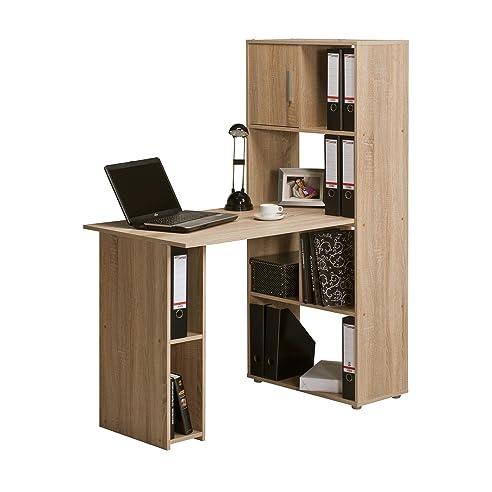 Eckschreibtisch büro  Minioffice Schreibtisch-Regalkombination Bürokombination Office ...