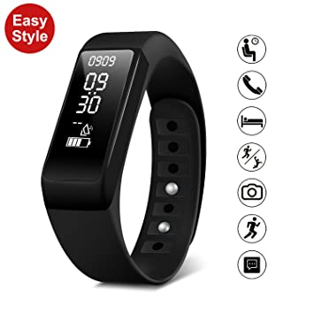 Smart pulsera reloj Fitness Tracker - SMbox inalámbrico USB de carga Bluetooth 4.0 Podómetro Monitor de