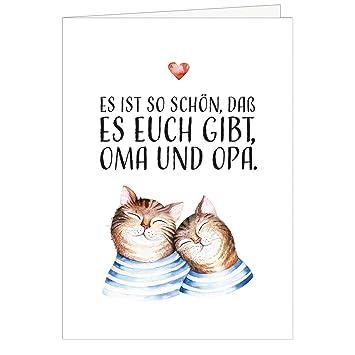 Grosse Xxl Din A4 Karte Fur Oma Und Opa Mit Umschlag 2 Katzen Mit