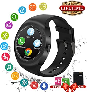 Reloj Inteligente, Bluetooth Smart Watch Android Impermeable ...