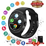 Smart Watch Android, Impermeabile Bluetooth Smartwatch Supporto SIM TF Card Touch Screen Cellulare Orologio Intelligente Elegante Fitness Sport Pedometro Digitale Wrist Watch Band Braccialetto Compatibile Android Huawei Sony Samsung e iOS Apple iPhone Smartphone per Uomo Donna Bambini