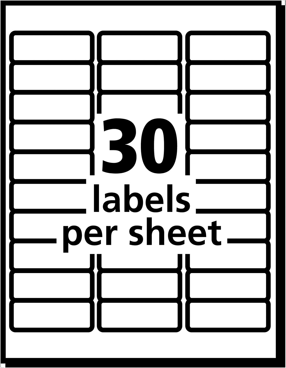Avery Matte Frosted Clear Address Labels for Inkjet Printers 1 x 2-5//8 300 Labels 18660