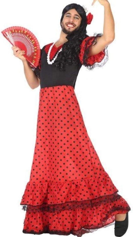 ANGEL TOMAS, SA Disfraz de Flamenca Rojo para Hombre: Amazon.es ...