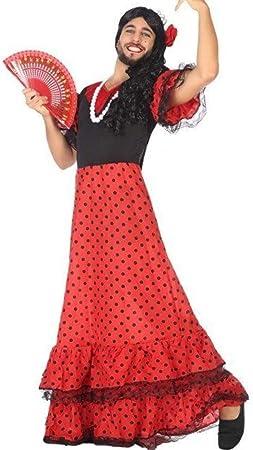 ANGEL TOMAS, SA Disfraz de Flamenca Rojo para Hombre ...