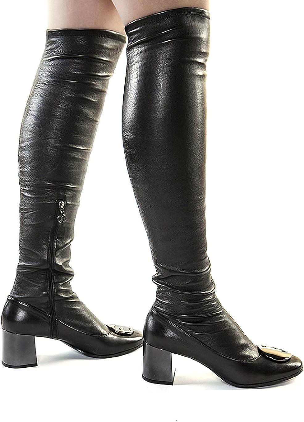 designer thigh boots