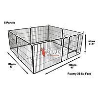 Bunny Business resistente Modular cachorro ejercicio jugar/forro polar pluma, 160x 160x 80cm, 8piezas