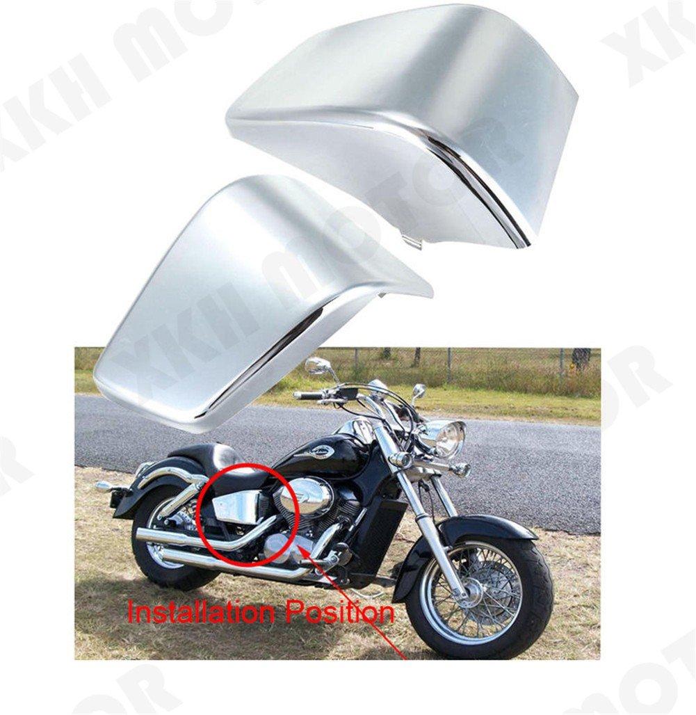 XKH MOTO- Black Battery Side Fairing Cover For Honda Shadow ACE 750 VT750 C D VT400 97-03 by XKH-MOTO (Image #9)