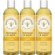 Burt's Bees Baby Shampoo & Wash, Original Tear Free Baby Soap - 12 Ounce Bottle (Pack of 3)