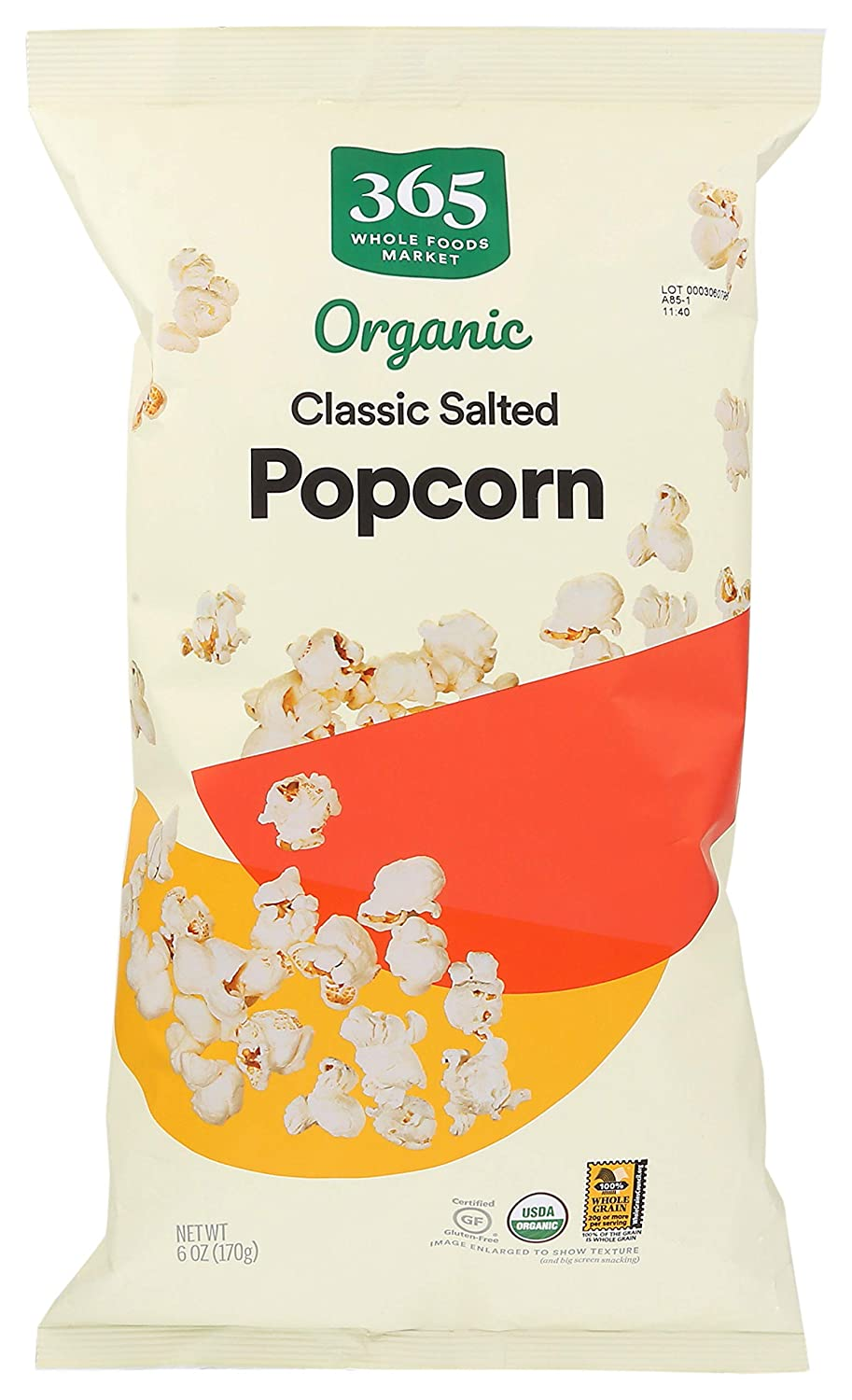 365 by Whole Foods Market, Popcorn, Classic - Salted, 6 Ounce