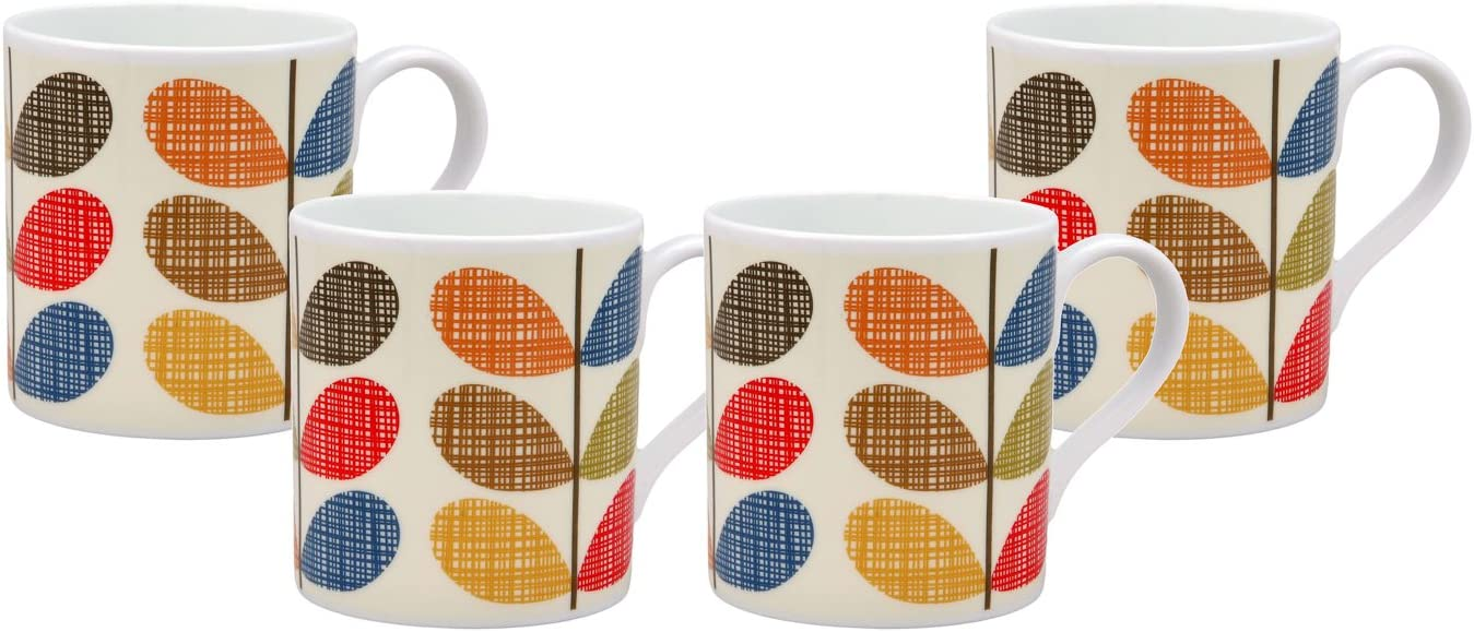 ORLA KIELY Bone China Mug Scribble Multi Stem