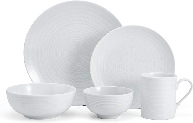 Mikasa 5224196 Cheers 40-Piece Dinnerware Set, Service for 8, White
