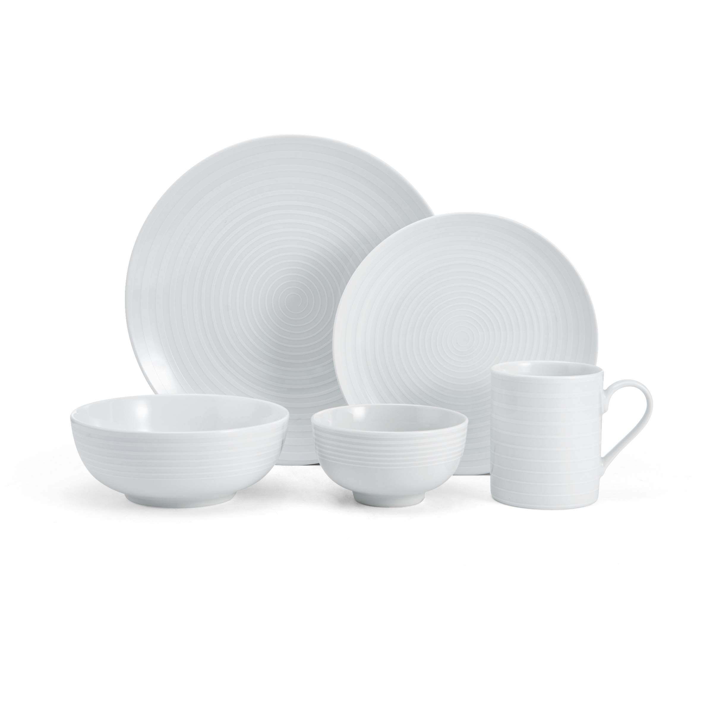 Mikasa 5224196 Cheers 40-Piece Dinnerware Set, Service for 8