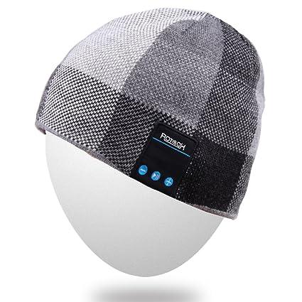 Mydeal Berretto Bluetooth wireless per uomo con altoparlanti stereo e  auricolari compatibile con Iphone Android per d749d194c20d
