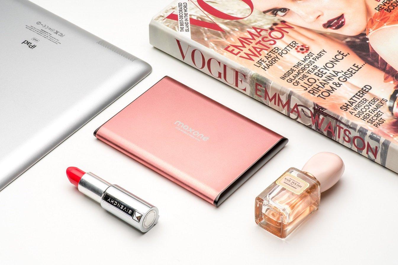 Disque dur Externe Portable 500Go - 2.5\'\' USB 3.0 Ultra fin Tout-Aluminium Stockage HDD pour Xbox One, PS4, PC, Mac, Laptop, Ordinateur de Bureau, Ordinateur Portable, Wii U, TV, Windows(Rose pink)