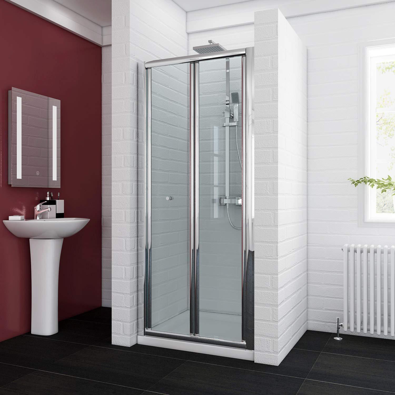 700mm ELEGANT 860mm Bi Fold Shower Enclosure Inwards Opening, Space Saving Shower Door