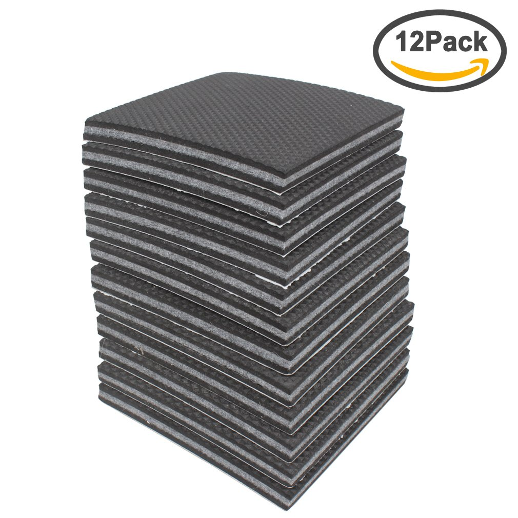 Exceptionnel Amariver Non Slip Furniture Pads Grippers, 12 Pcs Self Adhesive Rubber Feet  With Solid Felts Pads For Furniture Legs, Wood Floor Protectors, 4 Inches,  ...
