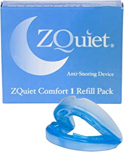 ZQUIET Anti-Snoring Mouthpiece Solution, Comfort Size #1 (Single Device, No Storage Case) - Made in USA & FDA Cleared, Natural Sleep Aid, Dentist Designed Oral Appliance