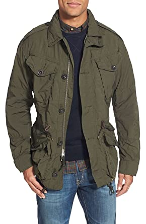 günstig tolle sorten Billiger Preis Ralph Lauren Herren Military Style Jacke, Men's Signature ...