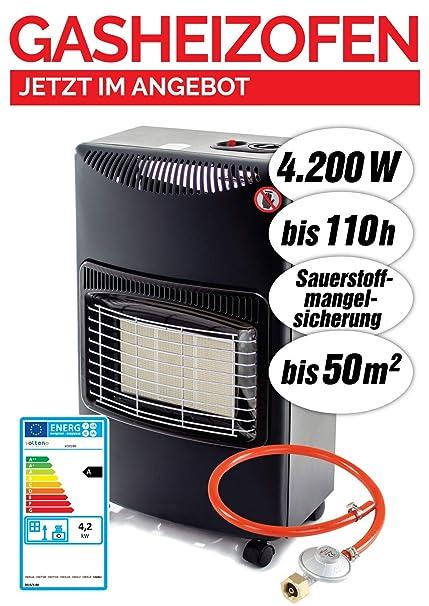 Estufa de gas • calefactor de gas • quemador de cerámica • infrarrojos • 4200 W