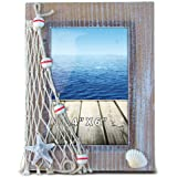 Puzzled Nautical Decor - Brown Frame 4 Inch by 6 Inch