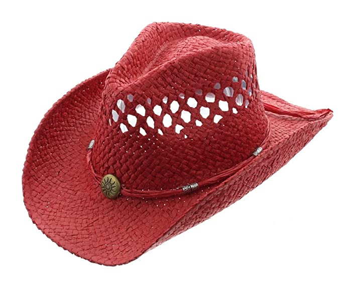 Solar Flare Cowboy Hat-Red at Amazon Men s Clothing store  afb75d9bd19