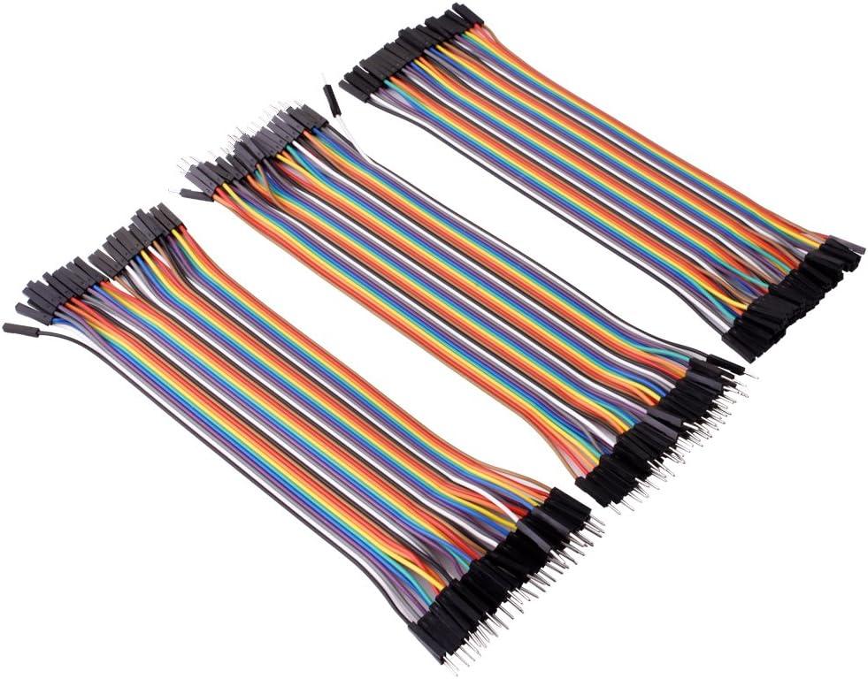 40Stk Wire Jumper Kabel 10cm*M-M M-F F-F 1P-1P Für Arduino Breadboard Werkzeuge