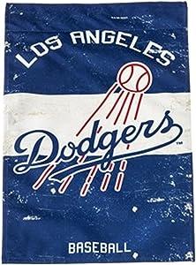 Dodgers EG Vintage Garden Flag Premium 2-Sided Retro Banner Baseball