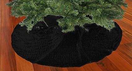 shinybeauty christmas tree skirt black48inch round sparkly sequin tree skirt beautiful tree - Black Christmas Tree Skirt