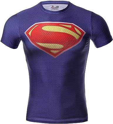 Cody Lundin Hombre Maneja de compresión de Jog Aptitud Movimiento de superhéroe Camisetas Manga Corta: Amazon.es: Ropa y accesorios