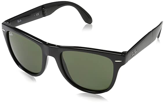 05798c6a6 Ray-Ban Sunglasses - RB4105 Folding Wayfarer / Frame: Black Lens: Green  Polarized