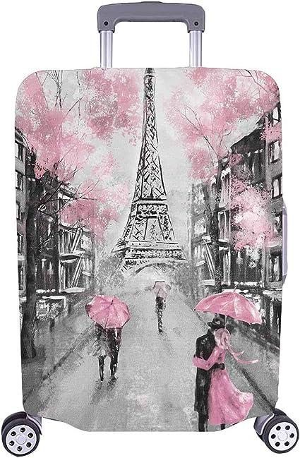 InterestPrint Eiffel Tower Travel Luggage Cover