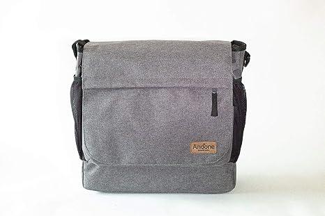 Andone Dynamic Walks color Gris Blend, bolso 2 en 1 para cochecitos y sillitas de bebé, con cesta desplegable en su bolsillo inferior.