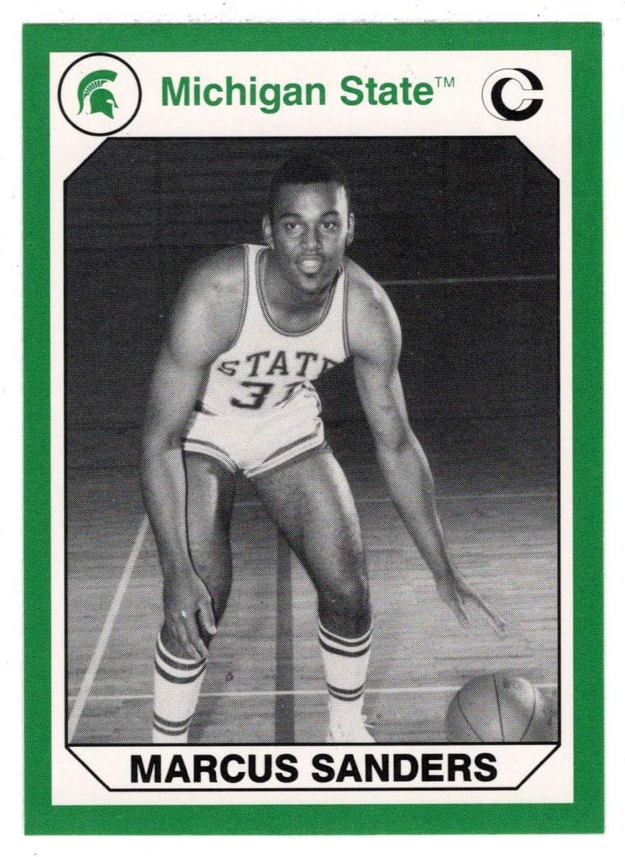 Marcus Sanders (Multi-Sports Card) 1990 Michigan State Collegiate Collection 200 - # 121 Mint