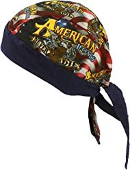 321c2cbbda15 American Legends USA Flag Bandana Headwrap Headscarf Adjustable Cap Hat Navy