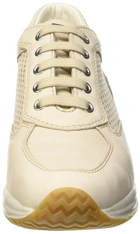 Geox Happy A, Sneakers Basses Femme, Beige (Beigec5016), 37 EU