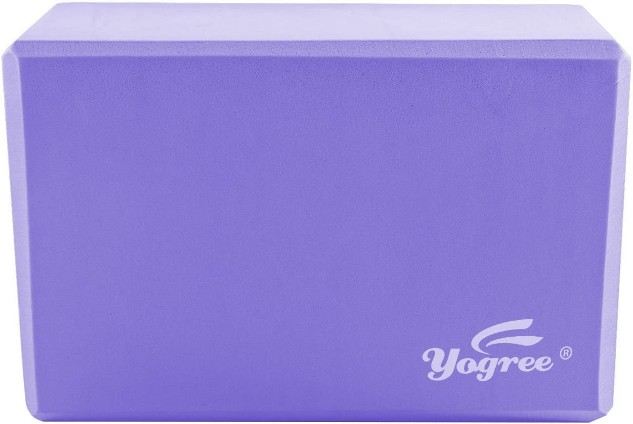 "Yogree Yoga Blocks, 9 ""x6"" x4 ""- High Density EVA Foam Brick Provides Stability Balance"