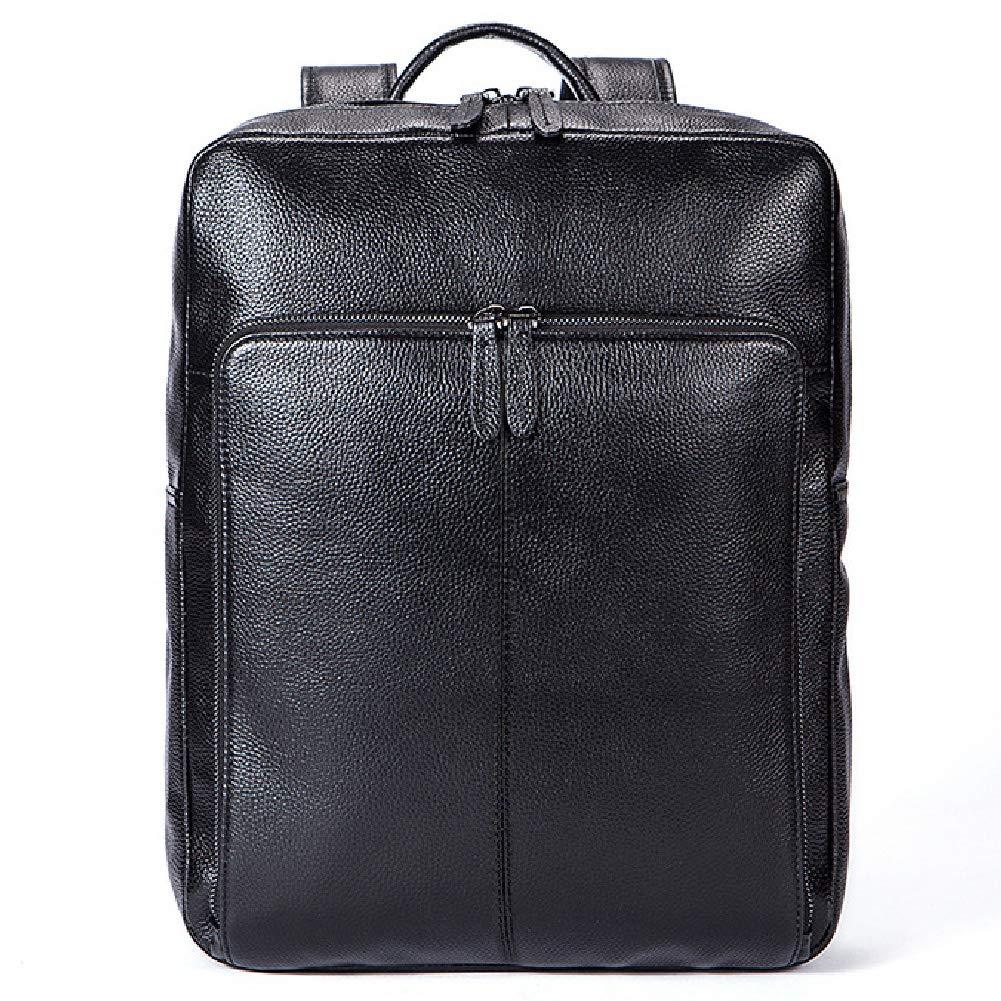 ラップトップバッグ、男性と女性のラップトップ旅行ロールトップリュックサックに適したファッション大容量レザーバックパック   B07RL2V9RB
