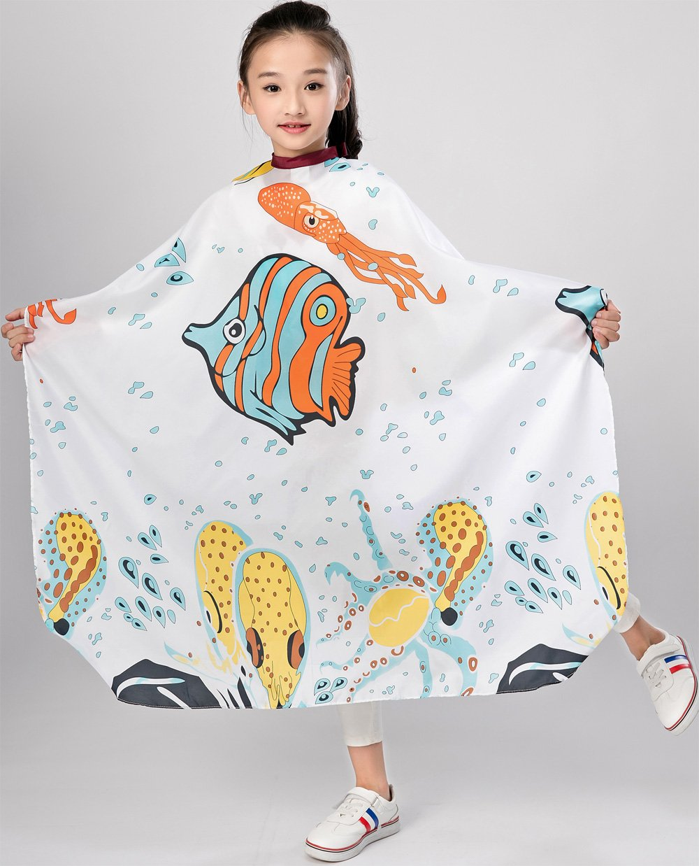 Kids Haircut Salon Cape Hair Cutting Shampoo Waterproof Styling Capes Cloth for Child by Perfehair (Image #4)