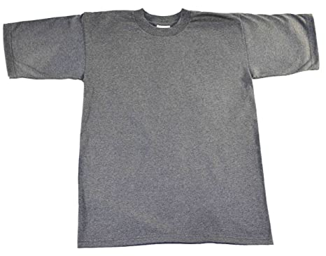 6c5ecfcdd Pro Club Men's Pack of 6 Heavyweight Cotton T-Shirt XLarge Tall - Grey -