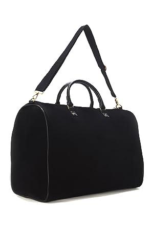 Amazon.com   Limited Time Sale - Womens Black Velvet Weekender Bag, Duffle  Bag, Overnight Bag, Travel Bag, Luggage, Large Tote Bag, Fashion Bag,  Durable Bag ... 1e5b4d4fa3