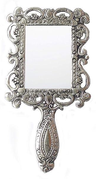 Amazon Com Rastogi Handicrafts German Silver Tone Purse Mirror Hand