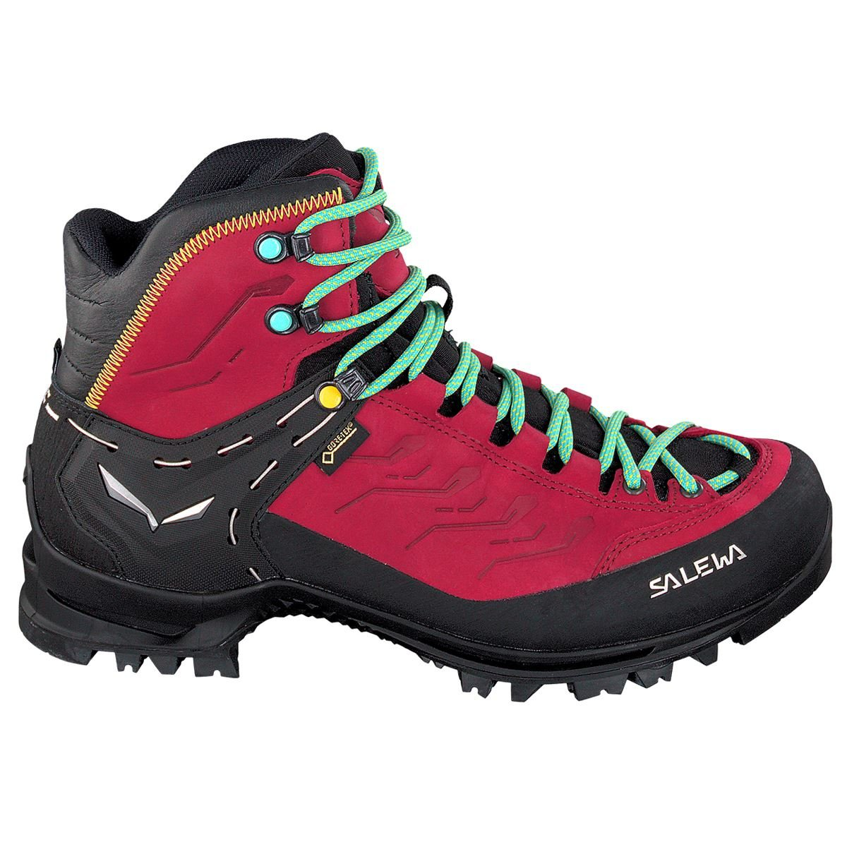 Salewa Women's Rapace GTX Mountaineering Boot, Tawny Port/Limelight, 6.5