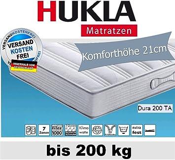Hn8 Dura 200 Ta 7 Zonen Tonnen Taschenfederkern Matratze Fur Personen Bis 2 Amazon De Kuche Haushalt